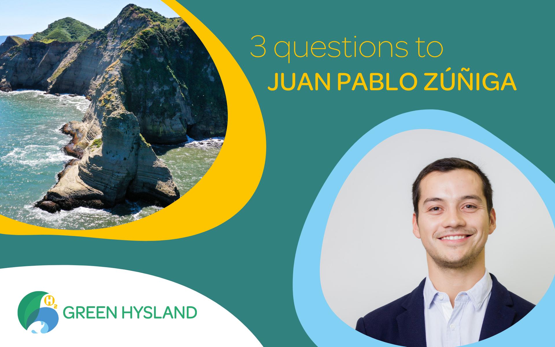 3 questions to Juan Pablo Zúñiga – H2 Chile