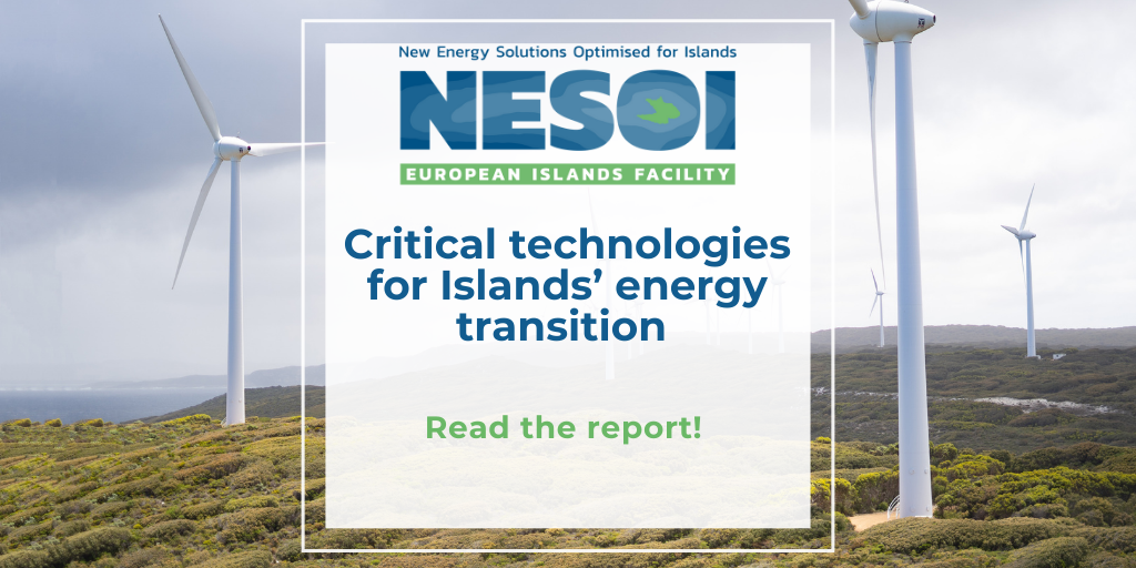 Critical technologies for islands' energy transition